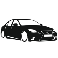 Наклейка Lexus is200 2016
