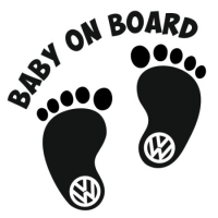 Наклейка Baby on Board Volkswagen