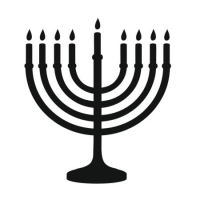 Наклейка Иудаизм Менора (Judaism Menorah)