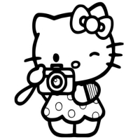 Наклейка Hello Kitty Фотограф