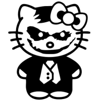 Наклейка Hello Kitty Зомби
