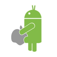 Наклейка Android vs Apple