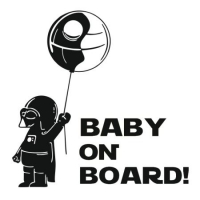 Наклейка Baby on board Star Wars Darth Vader Balloon Funny