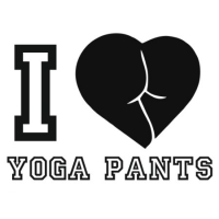 Наклейка I Love Yoga Pants
