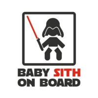 Наклейка Baby sith on board v2 (Darth Vader)