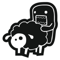 Наклейка Domo-Kun Love Sheep v2