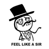 Наклейка Feel Like a Sir