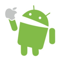 Наклейка Android eat Apple