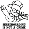 Наклейка Skateboarding is not a crime