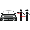 Наклейка Real Love VW Golf