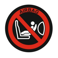 Наклейка Airbag child safety seat label