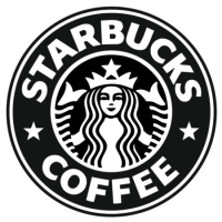 Наклейка Starbucks Coffee