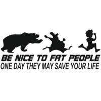 Наклейка Be nice to fat people