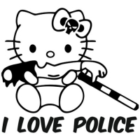 Наклейка Hello Kitty I Love Police