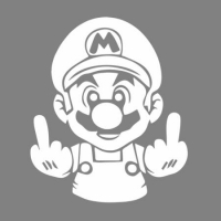 Наклейка Mario Middle Finger