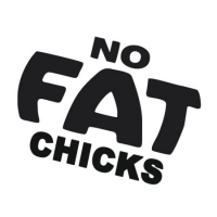 Наклейка No Fat Chicks v1