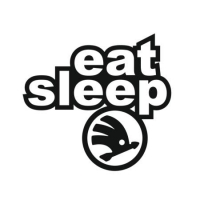 Наклейка Eat Sleep Skoda