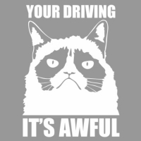 Наклейка Your Driving It's Awful (Grumpy Cat)