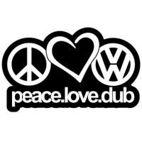 Наклейка Peace Love Dub v1