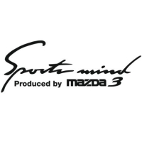 Наклейка Sports Mind Produced by MAZDA 3