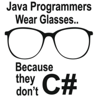 Наклейка Java programmers wear glasses