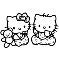 Наклейка Hello Kitty Подружки