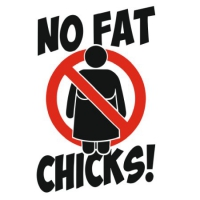 Наклейка No Fat Chicks v8