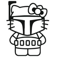 Наклейка Hello Kitty Boba Fett Star Wars