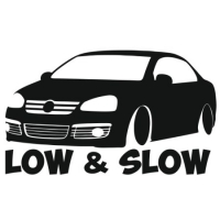 Наклейка Low & Slow VW Jetta Mk5