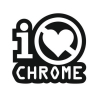 Наклейка I Don't Love Chrome ( Я не люблю хром)