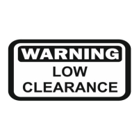 Наклейка WARNING Low Clearance