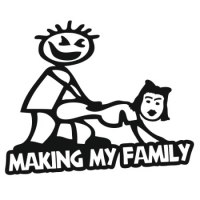 Наклейка Making My Family
