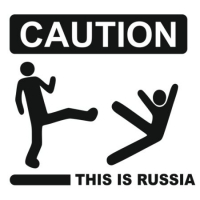 Наклейка Caution! This is Russia