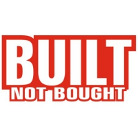 Наклейка Built not bought (Построен не куплен)