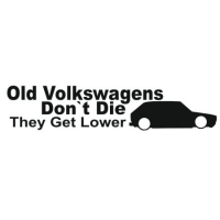 Наклейка Old Volkswagens Don't Die