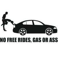 Наклейка No Free Rides, Gas or Ass (Skoda Octavia)