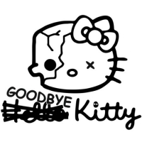 Наклейка Goodbye Hello Kitty
