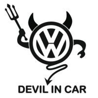Наклейка VW Devil In Car