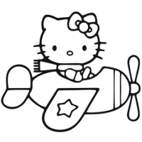 Наклейка Hello Kitty На Самолете