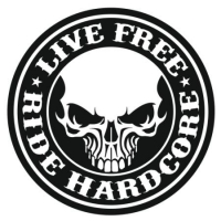 Наклейка Live free ride hardcore
