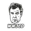 Наклейка WWJCD What Would Jeremy Clarkson Do? (Top Gear)