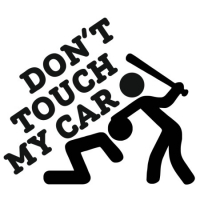 Наклейка Don't Touch My Car