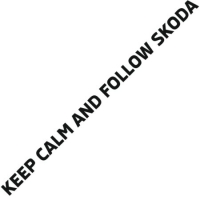 Наклейка Keep calm and follow skoda