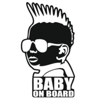 Наклейка Baby on Board Punk