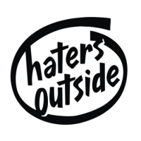Наклейка Haters Outside