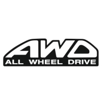 Наклейка AWD (All Wheel Drive)