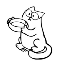 Наклейка Кот Саймона (Simon's Cat) v3