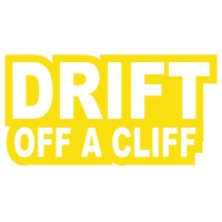 Наклейка Drift off a Cliff