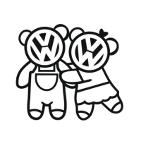 Наклейка VW Bears Family v2