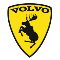 Наклейка Volvo Prancing Moose version 1 (Вольво Лось)